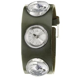 Calvin Klein Swiss Women's 'Night' Stainless Steel and Leather Quartz Watch