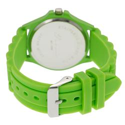Tressa Women's Rhinestone-Accented Neon Silicone Watch