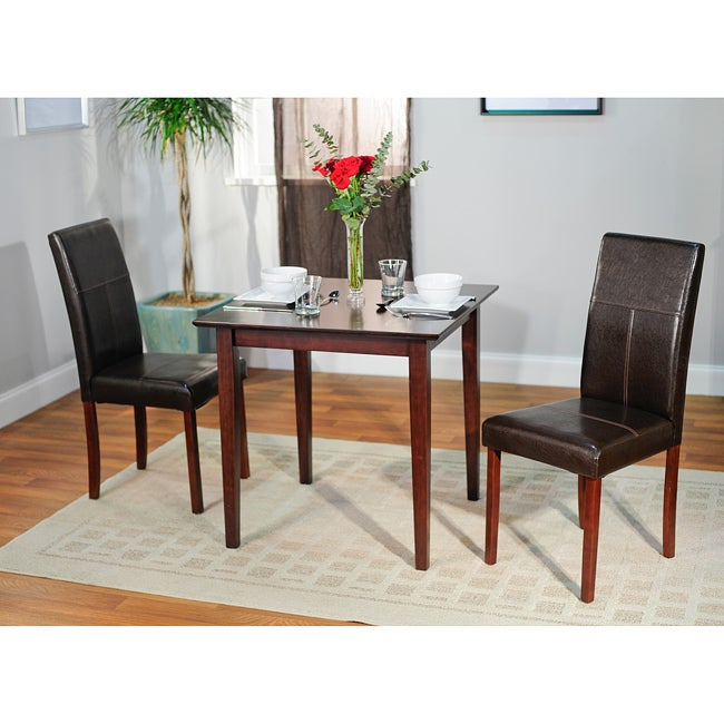simple living bettega parson 3 piece dining set overstock shopping