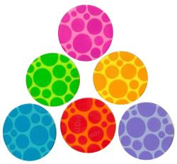 Munchkin Grippy Dots Non-slip Bath Toy (Pack of 6)