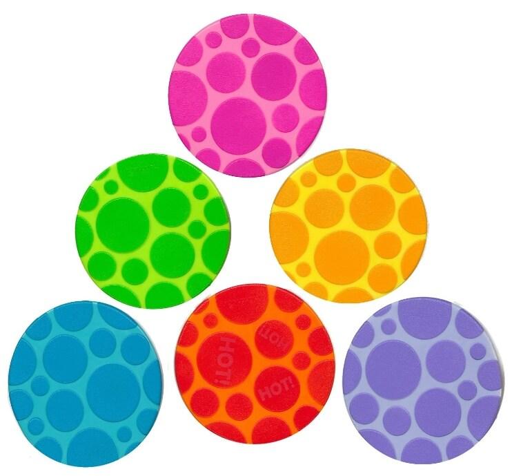 Munchkin Grippy Dots Non-slip Bath Toy (Pack of 6)