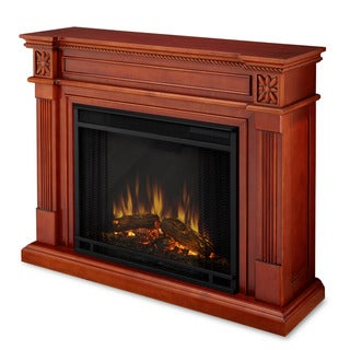 Real Flame Elise Dark Mahogany Electric Fireplace