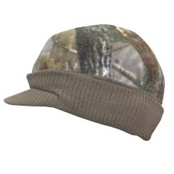 Quiet Wear Knit and Fleece Visor Cap