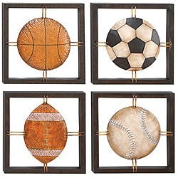 Casa Cortes All American Sports Time Metal Wall Art Decor