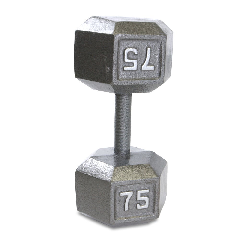 CAP Barbell 75-pound Cast-iron Hex Dumbbell with Steel Handles