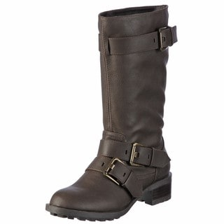 Skechers Women's Dark Brown Triple-buckle Boots  FINAL SALE