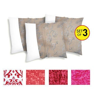Decorative Square Pillow Cover (Three-Piece Set)