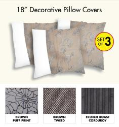 Decorative Pillow Cover (Set of 3)