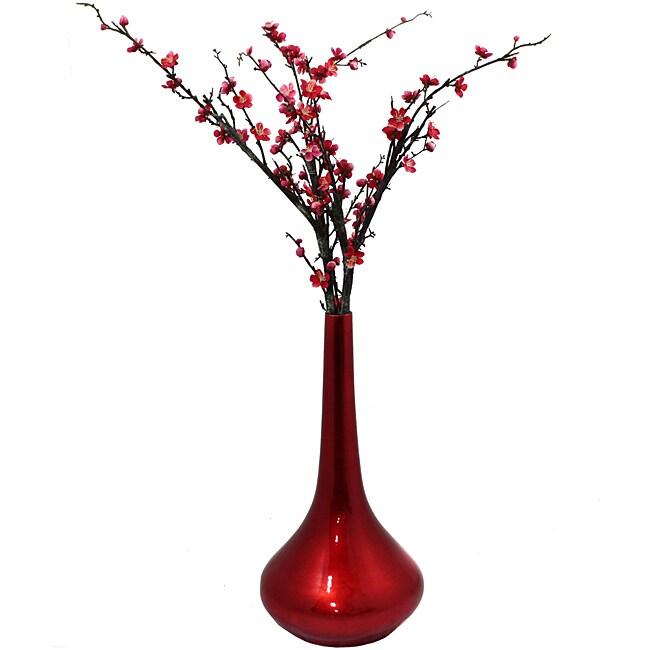 Casa Cortes Red Flare Ceramic Vase
