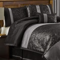 Lush Decor Metallic Animal Black/ Silver 6-piece Full-size Comforter Set