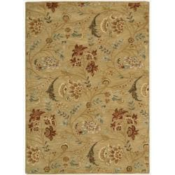 Nourison Hand-tufted Firenze Gold Rug (8' x 11')