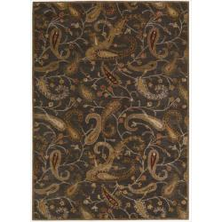 Nourison Hand-tufted Firenze Black Rug (8' x 11')