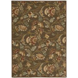 Nourison Hand-tufted Firenze Brown Rug (8' x 11')
