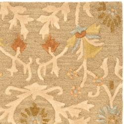 Safavieh Handmade Moroccan Cambridge Paradise Moss Green Wool Rug (3' x 5')
