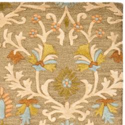 Safavieh Handmade Moroccan Cambridge Paradise Moss Green Wool Rug (9' x 12')