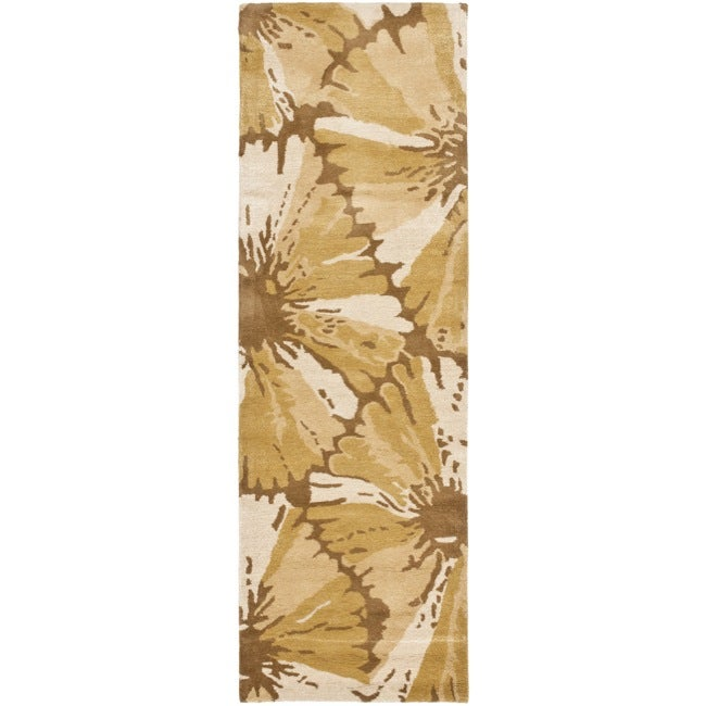Safavieh Handmade New Zealand Wool Floral Brown Rug (2'6 x 8')