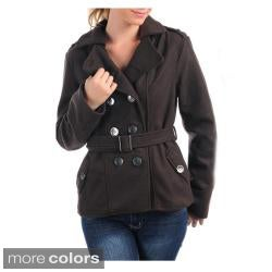 Stanzino Women's Brown Double-breasted Belted Coat