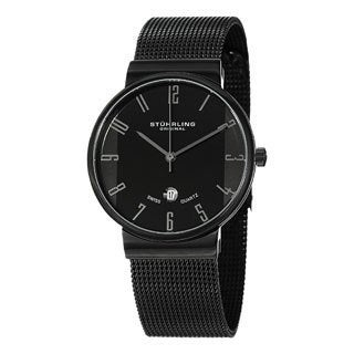 Stuhrling Original Women's Lady Monticello Swiss Quartz Black Watch
