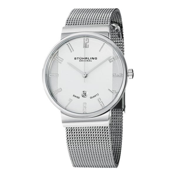 Stuhrling Original Women's Lady Monticello Swiss Quartz Stainless-Steel Watch
