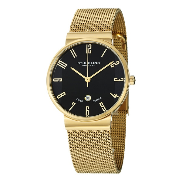 Stuhrling Original Women's Lady Monticello Swiss Quartz Goldtone Watch