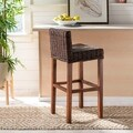 Safavieh St. Thomas Indoor Wicker Brown Bar Stool