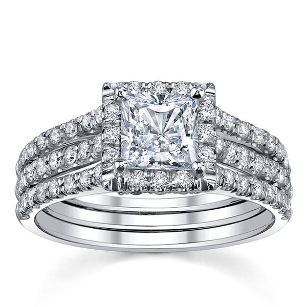 18k White Gold 1ct TDW Diamond Engagement Ring (I, SI3)
