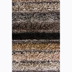 Handwoven Light Multicolor Mandara Shag Rug (9' x 13')