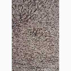 Handwoven Light Gray Mandara Shag Rug (7'9 x 10'6)