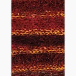 Handwoven Mandara Multicolor Shag Rug (5' x 7'6)