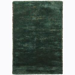 Handwoven One-Inch Wool Blend Mandara Shag Rug (9' x 13')