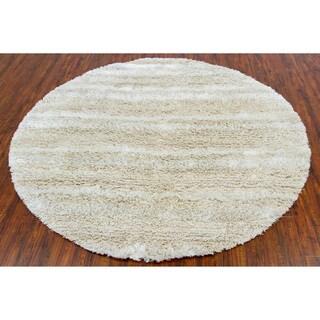 Handwoven Wool/Poly Mandara Shag Rug (7'9 Round)