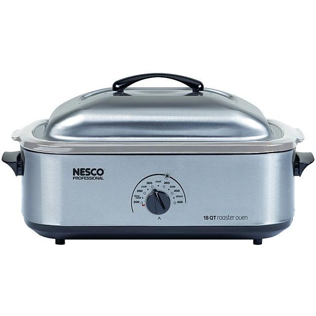 Nesco 4818-25-20, 18-Quart Stainless Steel Roaster Oven