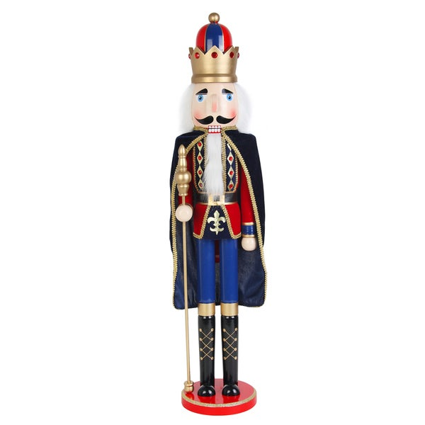 Christmas 36 Inch Nutcracker King with Cape