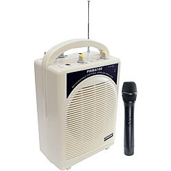 Pyle Rechargeable Portable PA System w/WirelessMIC (Refurbished)