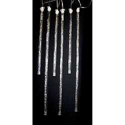 Good Tidings 47283 Icicle LED Snowcicle Pure White Add-On Long/short 6 ct 18-inch spacing