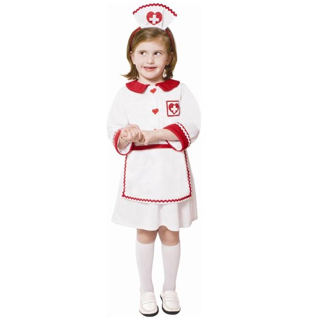 Dress Up America Girl's Red Cross Nurse Costume