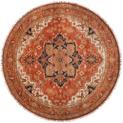 Hand-knotted Draco Wool Rug (8' Round)