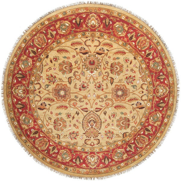 Hand-knotted Enzo Wool Rug (8' Round)