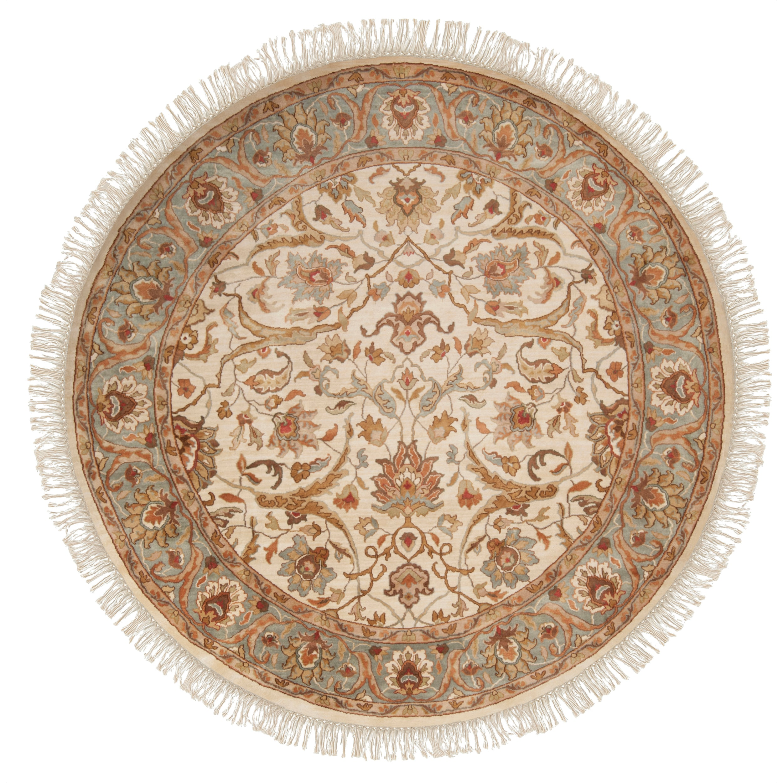 Hand Tufted Agra Red Gold Wool Rug 8 Round: Deals On 1001 Blocks