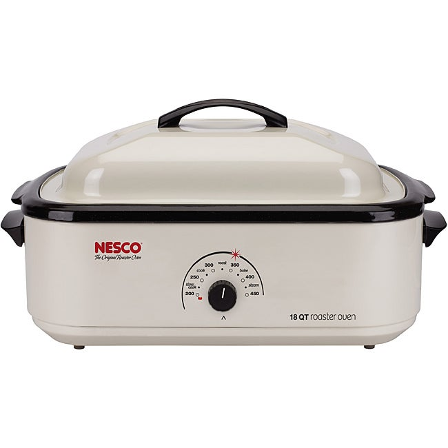 Nesco 4808-14-30 Classic Roaster Oven Non-stick Cook well Ivory 18-Quart