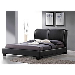 Sabrina Black Upholstered Queen Size Platform Bed