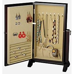 Seya Espresso Wall Mount Jewelry Box