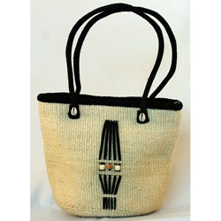 Fair Trade Handwoven African Natural Sisal Bucket Bag (Kenya)