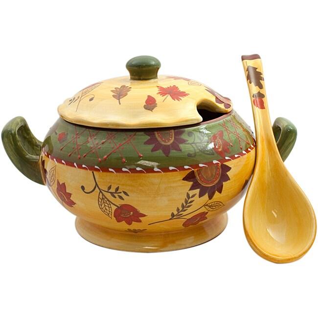American Atelier Bohemian Autumn Soup Tureen & Ladle