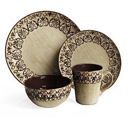 American Atelier Mehndi 16-Piece Dinnerware Set