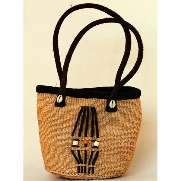 Fair Trade Hand-woven African Sisal Bucket Bag (Kenya)