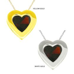 10k Gold Heart-cut Red Cubic Zirconia Necklace