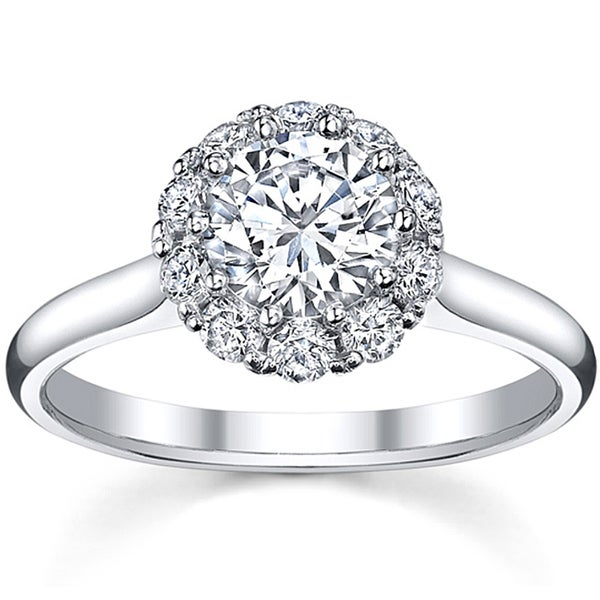 18k White Gold 1 3/8ct TDW Diamond Engagement Ring (H-I, SI2)