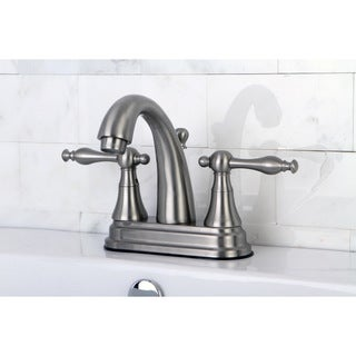 Classic Two-Handle Satin Nickel Bathroom Faucet