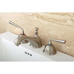 Satin Nickel Widespread Bathroom Faucet
